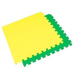 "Коврик-пазл BABYPUZZ (4 плиты 60x60x0,9см, 1,44кв.м./уп) ""Зелено-желтый"" - фото 507697"
