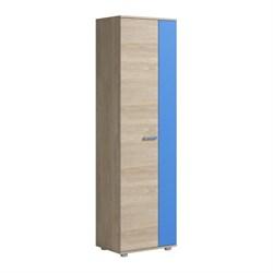 Шкаф для одежды 2 двери Формула 582х400х1985 Дуб сонома/Голубой - фото 599057