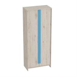 Шкаф 2-дверный Скаут Дуб Бонифаций/Софт тач индиго - фото 599070
