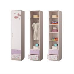 Шкаф для белья с 2-мя ящиками Адель, 451х446х2136, Ясень светлый/Белый - фото 599084