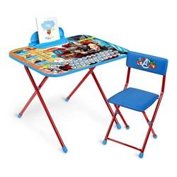 Набор трансформируемой детской мебели Disney «Мстители» с рисунком столешницы Тор: стол, пенал, стул - фото 599720
