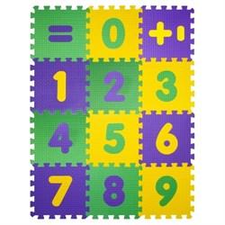"""Коврик-пазл BABYPUZZ (12 плит 33x33x1см, ~1,3кв.м./уп) """"Математика"""" - фото 603364"""