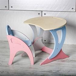 """Набор мебели регулируемый """"Парус """": стол, стул. Цвет розово-голубой - фото 608227"""
