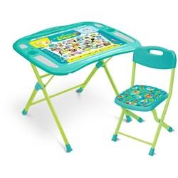 Набор мебели «Пушистая азбука»: регулируемая парта, стул мягкий, пенал, подставка для книг - фото 608235