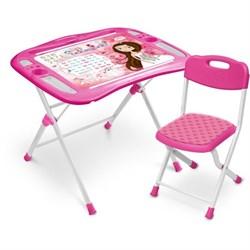 Набор мебели «Маленькая принцесса»: регулируемая парта, стул мягкий, пенал, подставка для книг - фото 608236