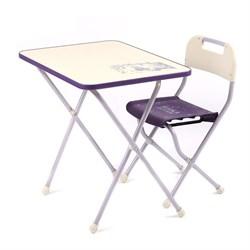 """Комплект детской мебели с рисунком в стиле """"Ретро"""", цвет сиреневый - фото 608248"""