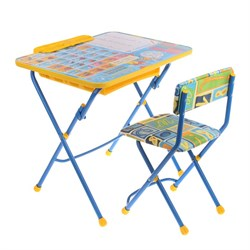 """Набор детской мебели """"Первоклашка. Осень"""" складной: стол, мягкий стул и пенал - фото 608287"""