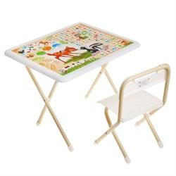 """Набор детской мебели """"Бэмби"""" складной, цвет бело-бежевый - фото 608330"""