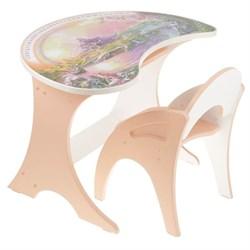 """Набор мебели """"Волшебный остров"""": столик, стульчик. Цвет персиковый - фото 608356"""