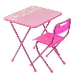 """Набор мебели """"Алина"""" складной, цвет розовый - фото 608368"""