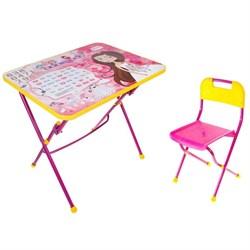 """Набор детской мебели """"Маленькая принцесса"""" складной, цвет розовый - фото 608390"""
