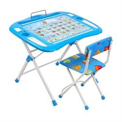 """Набор мебели """"Азбука"""": регулируемая парта, стул мягкий, пенал, подставка для книг - фото 608406"""