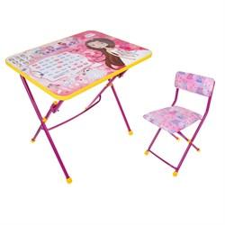 """Набор детской мебели """"Никки. Маленькая принцесса"""" складной, цвет розовый - фото 608446"""