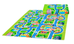 """Детский игровой развивающий коврик Mambobaby  """"Город"""", книжка 200х150х1см - фото 6127"""