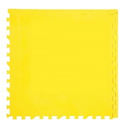 """Коврик-пазл Экополимеры (4 плиты 60x60x0,9см, 1,44кв.м./уп) """"Желтый"""" - фото 631276"""