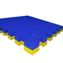 """Будо-маты (татами) Экополимеры (1 плита 100х100х4см, 1кв.м./уп) """"Сине-желтый"""" - фото 631339"""
