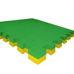 "Будо-маты (татами) Экополимеры (1 плита 100х100х4см, 1кв.м./уп) ""Зелено-желтый"" - фото 631342"