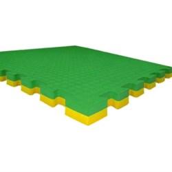 "Будо-маты (татами) Экополимеры (1 плита 100х100х2,5см, 1кв.м./уп) ""Зелено-желтый"" - фото 631344"