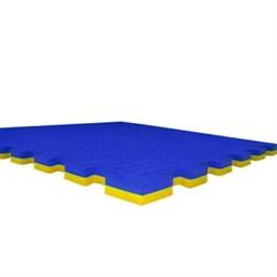 """Будо-маты (татами) Экополимеры (1 плита 100х100х2см, 1кв.м./уп) """"Сине-желтый"""" - фото 631348"""