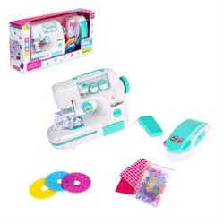 """Швейная машина """"Карамель"""" с 3 катушками и аппаратом для декора одежды, цвет мята - фото 631417"""