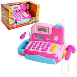 Касса-калькулятор «Любимые покупки-1», световые и звуковые эффекты, работает от батареек - фото 631546