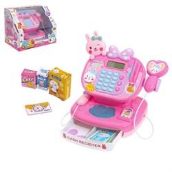 """Касса-калькулятор """"Зая"""" со сканером и аксессуарами, световые и звуковые эффекты - фото 631602"""