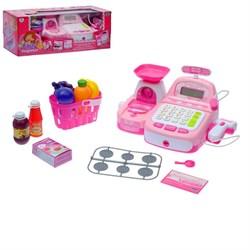Касса с чеком и аксессуарами, розовая - фото 631611