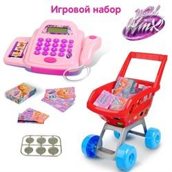 Касса со сканером, продуктовой тележкой и аксессуарами, феи ВИНКС, 30 предметов - фото 631662