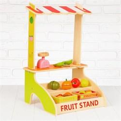 """Игровой набор """"Лоток с фруктами"""", деревянные фрукты в комплекте - фото 631667"""