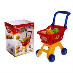 """Игровой набор """"Супермаркет"""", тележка с продуктами, 10 предметов, высота 50 см - фото 631684"""
