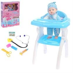 Пупс «Малыш» со стульчиком и аксессуарами, звуковые функции, МИКС - фото 631795