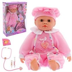 Пупс функциональный «Милая кукла» с аксессуарами: болеет, текут сопли, краснеют щёки, звуковые функции, МИКС - фото 631804