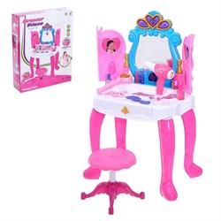 Столик с зеркалом «Милашка» с пианино и аксессуарами - фото 632036
