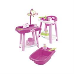 Игровой набор «Уход за куклой», 3 в 1, 15 предметов - фото 632075