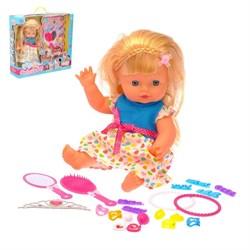 """Кукла """"Даша"""" в платье, с аксессуарами - фото 632113"""