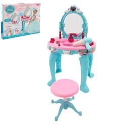 """Игровой набор модницы """"Принцесса"""" с аксессуарами и раскраской, световые и звуковые эффекты - фото 632159"""