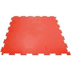 Мягкий пол для игровых зон, класс пожароопасности КМ2, 37,5х37,5х0,8/1/1,4 см, красный - фото 638060
