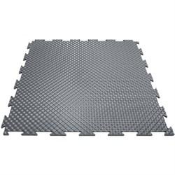 Мягкий пол для игровых зон, класс пожароопасности КМ2, 37,5х37,5х0,8/1/1,4 см, темно-серый - фото 638073