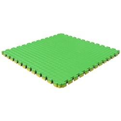 """Будо-мат (татами) BABYPUZZ (1 плита 100x100x2см, 1кв.м./уп) """"Желто-зеленый"""" - фото 639875"""