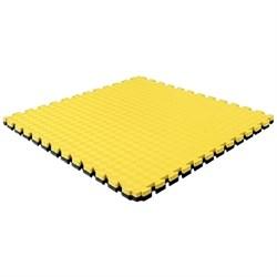 "Будо-мат (татами) BABYPUZZ (1 плита 100x100x2,5см, 1кв.м./уп) ""Желто-черный"" - фото 639885"