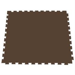Модульное покрытие для тренажерных залов, 100х100х2 см, коричневый - фото 646107