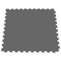 Модульное покрытие для тренажерных залов, 100х100х2 см, серый - фото 646108