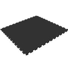 Модульное покрытие для тренажерного зала, 100х100х1 см, черный - фото 646117