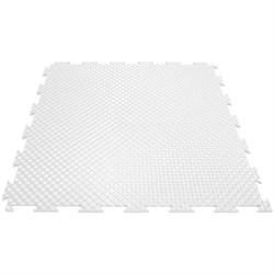 Твердое напольное покрытие для тренажерных залов, 37,5х37,5х0,6/0,8/1 см, белый - фото 646125