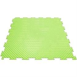 Твердое напольное покрытие для тренажерных залов, 37,5х37,5х0,6/0,8/1 см, салатовый - фото 646135