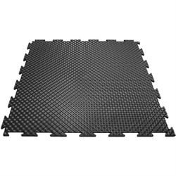 Эластичное напольное покрытие для тренажерных залов, 37,5х37,5х0,8/1/1,4 см, черный - фото 646155