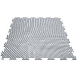 Эластичное напольное покрытие для тренажерных залов, 37,5х37,5х0,8/1/1,4 см, светло-серый - фото 646159