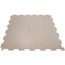 Эластичное напольное покрытие для тренажерных залов, 37,5х37,5х0,8/1/1,4 см, бежевый - фото 646163