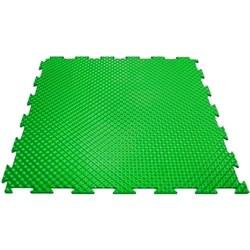 Эластичное напольное покрытие для тренажерных залов, 37,5х37,5х0,8/1/1,4 см, зеленый - фото 646169