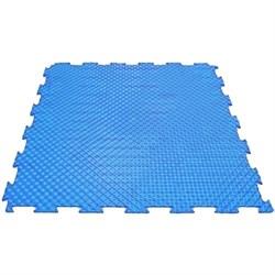 Эластичное напольное покрытие для тренажерных залов, 37,5х37,5х0,8/1/1,4 см, синий - фото 646175